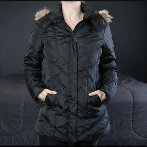 Marc New York Faux Fur Trim Down Coat